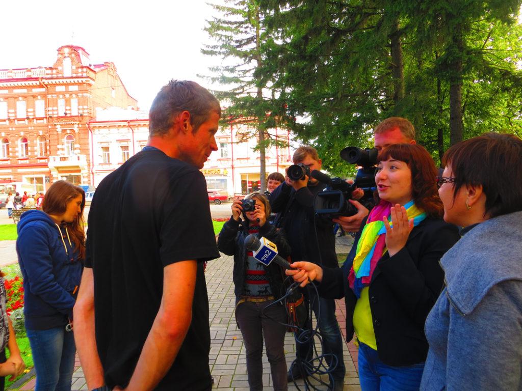 Przywitanie w Tomsku na Syberii